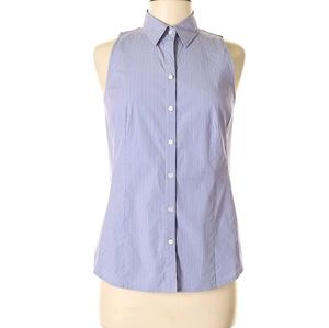 Ann Taylor button up sleeveless dress shirt